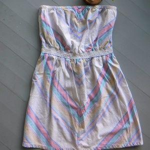 CUTE Mossimo Pastel Colorful Chevron Dress